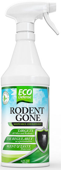 Eco Defense Rodent Gone Natural Repellent Spray with Peppermint and Other Essential Oils