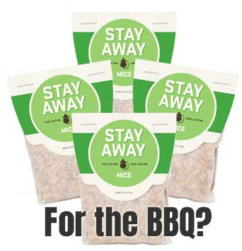 Stay Away Natural Mouse Repellent - for the BBQ?